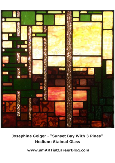 josephine_geiger_sunset_bay_with_3_pines